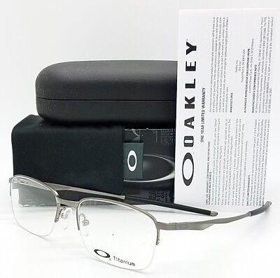 NEW Oakley Wingfold 0.5 RX Prescription Frame Chrome OX5101-0353 wing 53mm 5101