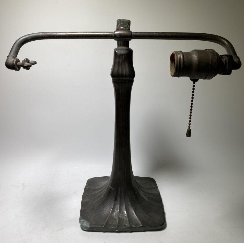 ANTIQUE 1920s HANDEL MISSION ARTS & CRAFTS DESK LAMP SIGNED