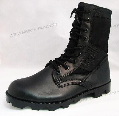 Men's Boots Jungle GI Type Black Tactical Combat Military Work Shoes, Sizes:6-15 - Black Combat Boots For Men