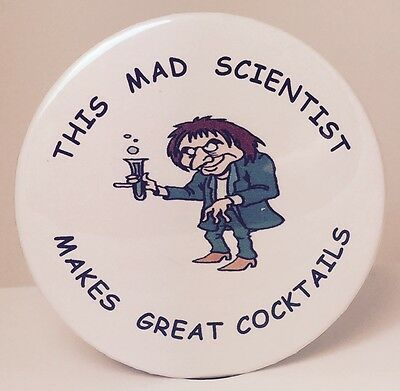MAD SCIENTIST PIN - HALLOWEEN - LAB TECH - RESEARCHER - DOCTOR COSTUME FUN](Tech Halloween Costumes)