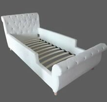 PRINCESS BED PU WHITE LEATHER WITH BLING Broadbeach Waters Gold Coast City Preview