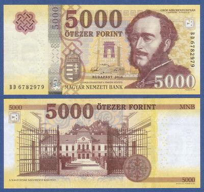 UNGARN / HUNGARY 5000 Forint 2016 UNC  P.NEW