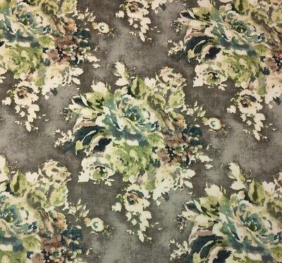 Ballard Designs Cynthia Gray Watercolor Floral Multiuse Fabric By The Yard 54  W