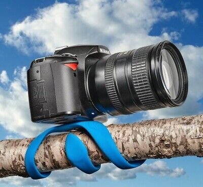 Miggo Splat Flexible Mini Tripod for DSLR Cameras, Blue, best portable
