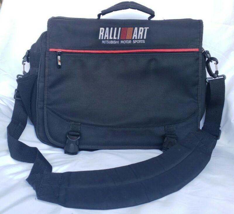 Ralliart Mitsubishi Motor Sports Racing Logo Messenger Bag Laptop Black Emblem