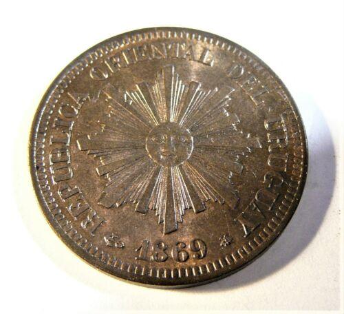 Uruguay 1869 2 Centesimos UNC SB1