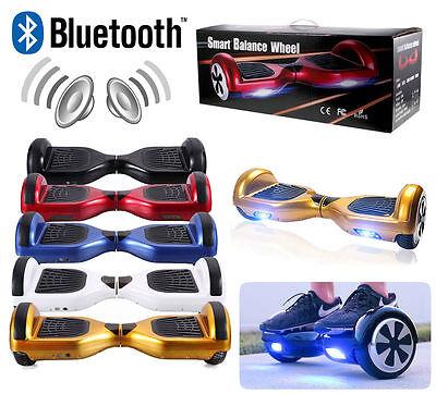 "Skate électrique 6.5"" Gyropode Bluetooth Smart Self Balancing Scooter overboard"