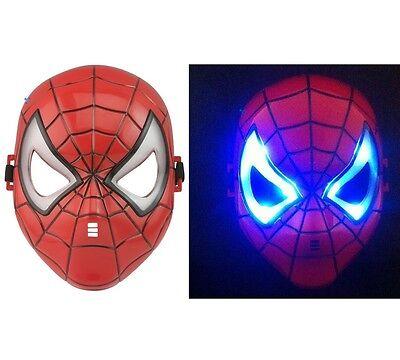 Boys Spiderman Light Up Mask Avenger Marvel Comic Super Hero Fancy Dress Party