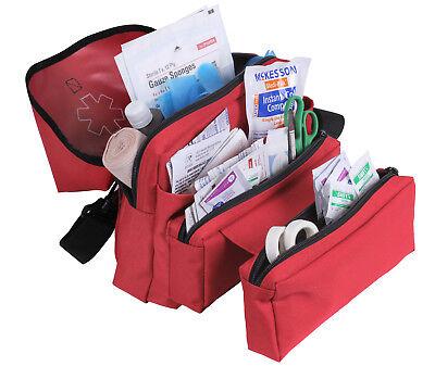 Medical Field Kit Bag (Red EMT EMS Medical Field Kit Bag Medic Pack Star Of Life Logo Rothco 2843 )