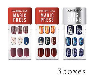Dashing Diva Magic Press Impress Nails Holiday Party Single Set 3Boxes