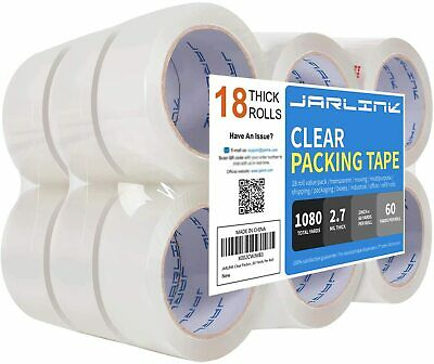 Jarlink Clear Packing Tape 18 Rolls Heavy Duty Packaging Shipping Pa High Pet