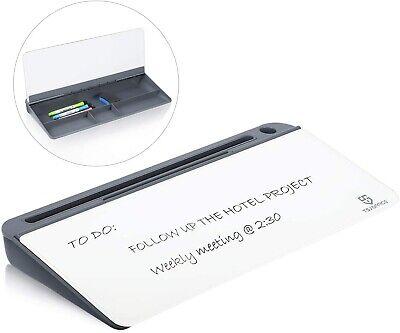 Small Glass Desktop Whiteboard Dry-erase-boardorganizerkeyboard Stand