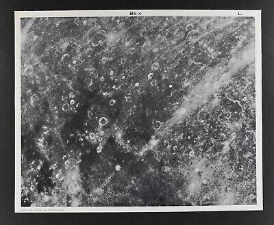 1960 Lunar Moon Map Photo Fracastorius B6-c Lick Observatory Plate L18 Astronomy
