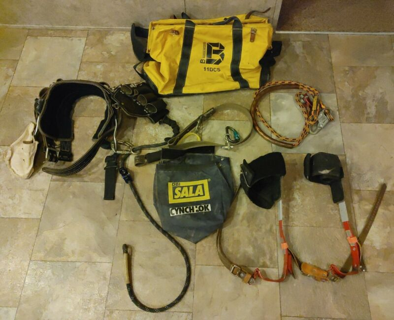Bashlin Electrical Lineman Climbing Gear Complete Setup