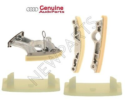 For Audi A4 A5 A6 Quattro S6 S7 Timing Chain Tensioner & Guides Rail KIT Genuine