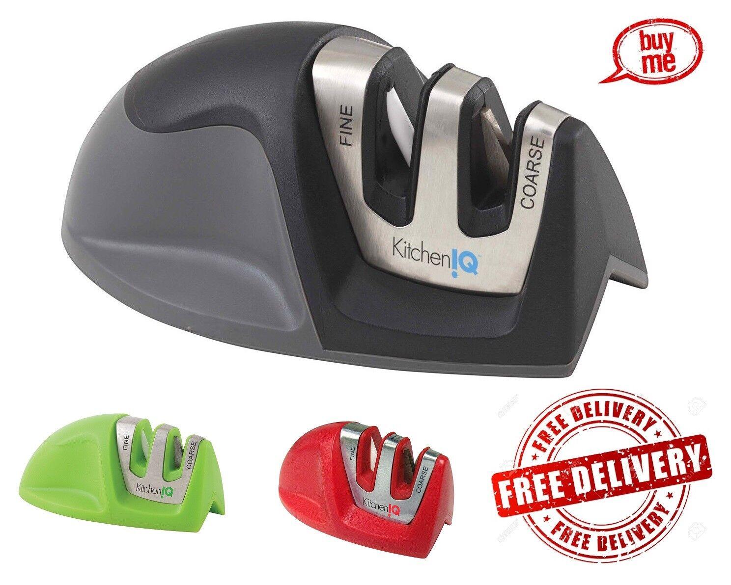 KitchenIQ 50009 Edge Grip 2 Stage Knife Sharpener Portable H