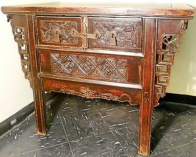 """Antique Chinese """"Butterfly"""" Cabinet (2543), Circa 1800-1849"""