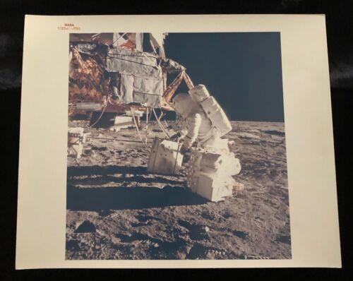 APOLLO 12 LEM & ALAN BEAN NASA RED LETTER PHOTO AS12-46-6791 KODAK BACK