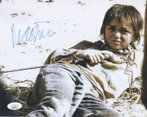 Maisie Williams Game of Thrones Autographed Signed 8x10 Photo JSA COA  #12