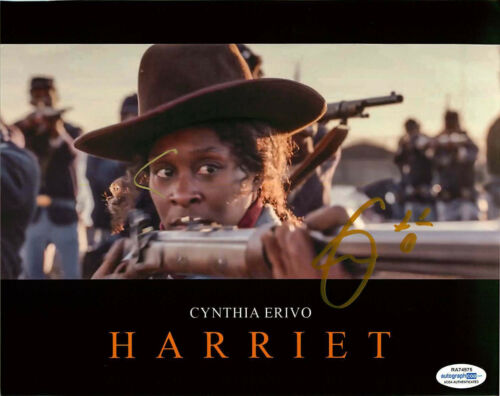 Cynthia Erivo Signed HARRIET 8x10 Photo PROOF ACOA C Tubman El Royale