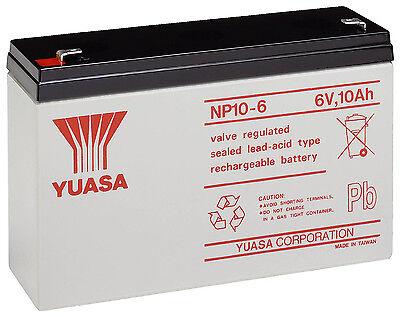Yuasa 6V 10AH Como 12AH Juguete Eléctrico Coche Batería Genuino NP10-6 NP12-6,