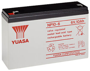 yuasa 6v 10ah comme 12ah jouet batterie de voiture lectrique np10 6 np12 6 6v ebay. Black Bedroom Furniture Sets. Home Design Ideas