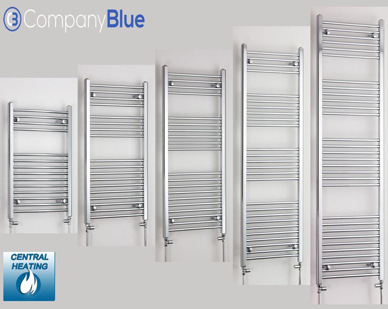 Bathroom Towel Radiator Heated Rail Chrome Straight Ladder Warmer 800 x 600 mm