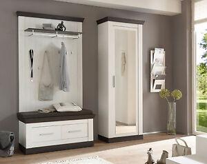 garderobe mit sitzbank ebay. Black Bedroom Furniture Sets. Home Design Ideas