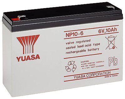 Yuasa 6V 10AH Como 12AH Batería Coche Juguete Eléctrico Moto Feber Peg...