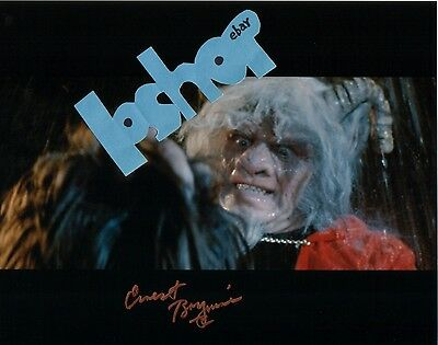 Rare ERNEST BORGNINE signed photo autograph The Devil's Rain RARE Satan PROOF !