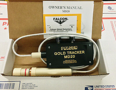 FALCON MD20 METAL DETECTOR finds discriminates Gold WATERPROOF PROBE