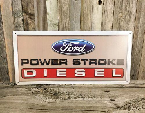 "Ford Power Stroke Diesel Truck F250 18"" Metal Tin Sign Garage Man Cave New"