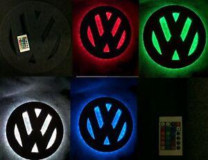 Vw  t4 t5 t6 16 inch interior led light badge logo.