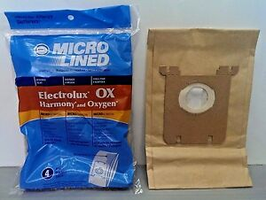 Electrolux Canister Oxygen/ Harmony/ Ergospace Vacuum  Bags 4 Pack OX style S