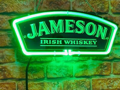 """Jameson Irish Whiskey 3D Carved Neon Light Sign 14"""" Beer Cave Gift Lamp Bar"""
