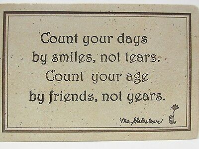 """Boyd's #4426 - """"Count your days"""" Resin Wall Plaque - Ms. Shakesbeare * NIB"""