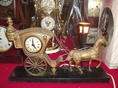 Linden Black forest Carrage  Horse Clock (Brooklyn N.Y.) Electric.