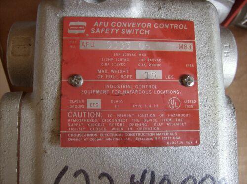 CROUSE HINDS AFU 0333 05 CONVEYOR CONTROL SWITCH