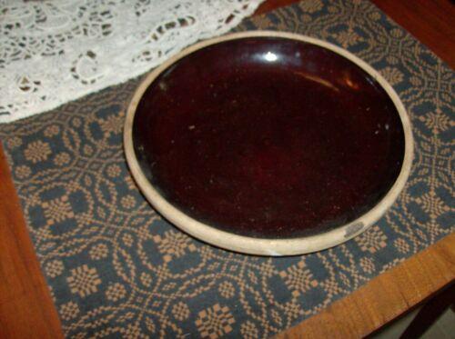 Vintage Brown Stoneware Pie Dish Plate GUC