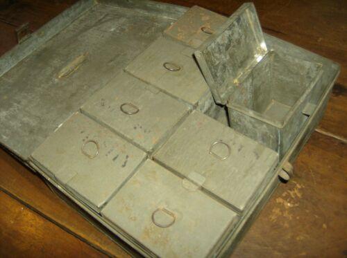Interesting Original Antique Tin Spice Box