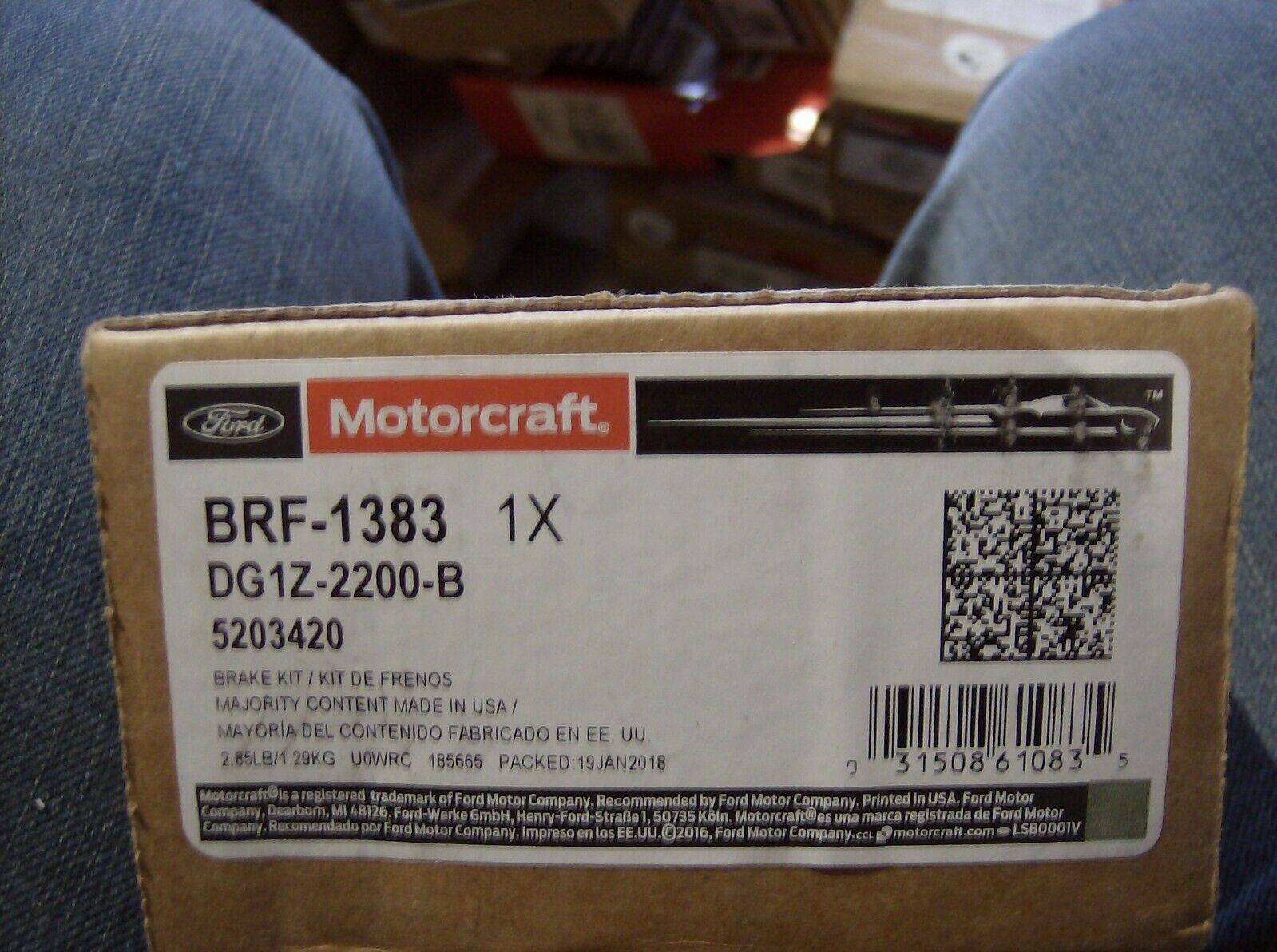GENUINE FORD BRAKE PAD SET MOTORCRAFT BRF-1383 EXPLORER TAURUS POLICE