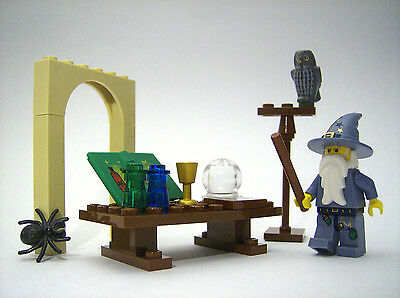 ☆NEW☆ LEGO Castle Magic Wizard Minifig In Alchemy Laboratory Pet Owl & Much More