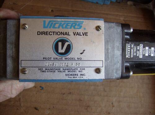 VICKERS DIRECTIONAL CONTROL VALVE DG4S4 012C H50 WITH 195053 SOLENOID