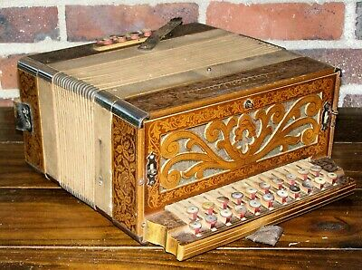 Concertone Button Box Accordion Made in Germany Good Condition Unique Vintage C1
