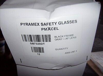 PYRAMEX SAFETY GLASSES SB7320DT SMOKE ANTI FOG LENSES PMXCEL CASE (Discount Glasses Lenses)
