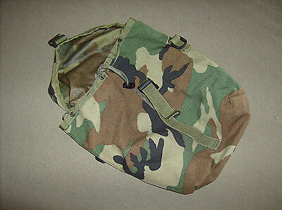 US military surplus modular backpack MOLLE attach woodland sustainment pouch