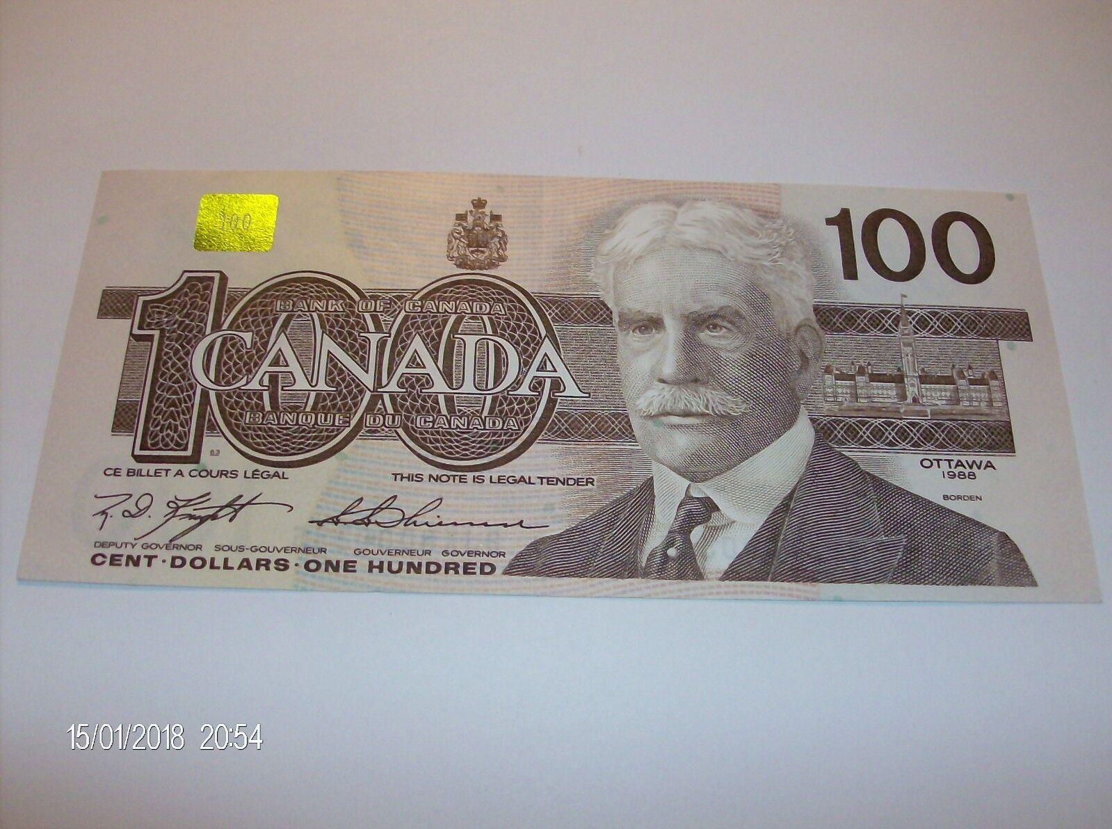 RECTO 100 Dollars Type 1988 - None