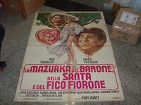 La Mazurka Del Barone Della Santa E Del Fico Fiorone Manifesto 2f Originale 1974 -  - ebay.it
