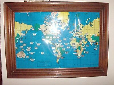 Large Howard Miller World Time Self Starting wall Clock Electric. No# 612408