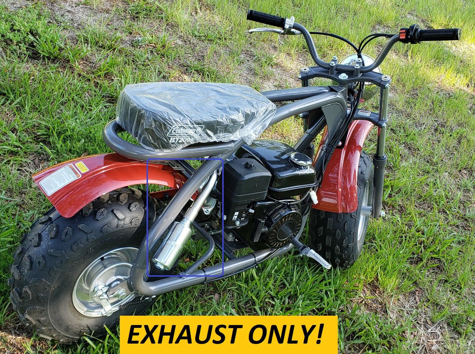 Exhaust With Muffler for: Coleman BT200X 196cc/6.5HP Gas min